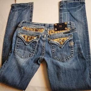Miss Me Straight Denim Jeans Sz 28